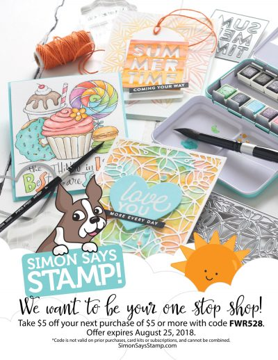 Simon Says Stamp Ad - Scrapbook & Cards Today Summer 2018 Issue