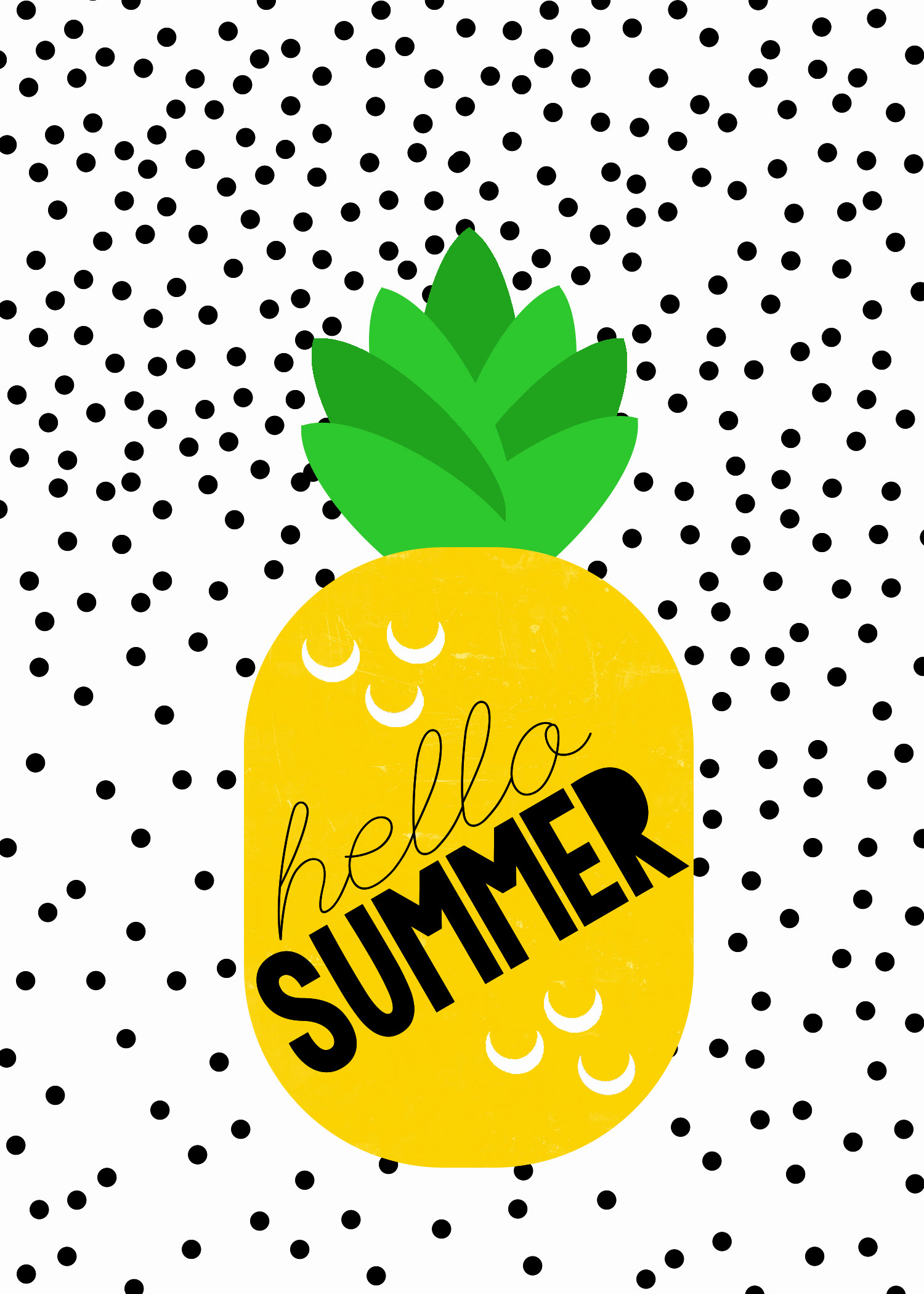 photo relating to Pineapple Printable called Satisfied Summer time Pineapple Printable in opposition to Sbook Playing cards