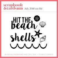 July 2018 freebie from Scrapbook & Cards Today