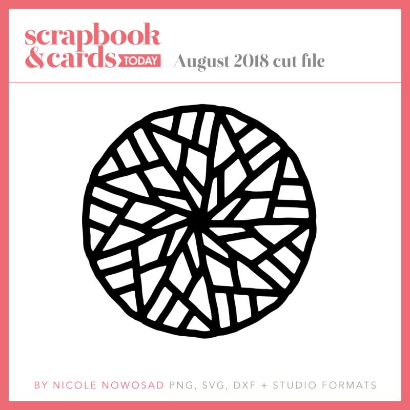 Scrapbook & Cards Today - August 2018 cut file freebie