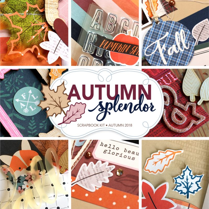 SCT Delivered Kit - Autumn Splendor Scrapbook Kit