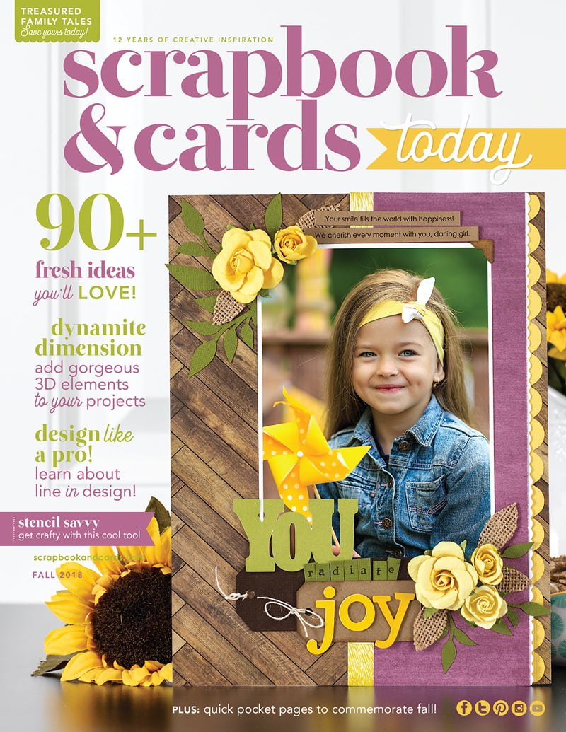 Scrapbook & Cards Today Fall 2018 Issue