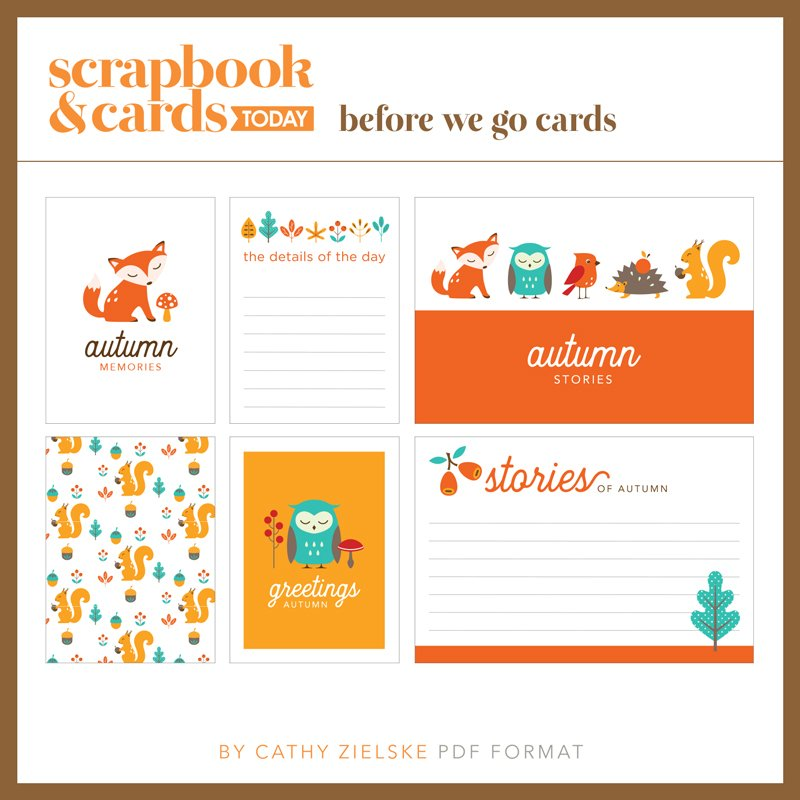 SCT Magazine - Fall Journaling Card Set and Cut Files