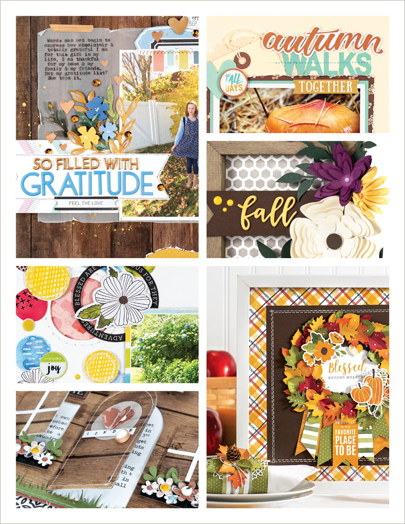 Scrapbook & Cards Today Fall 2018 Issue collage