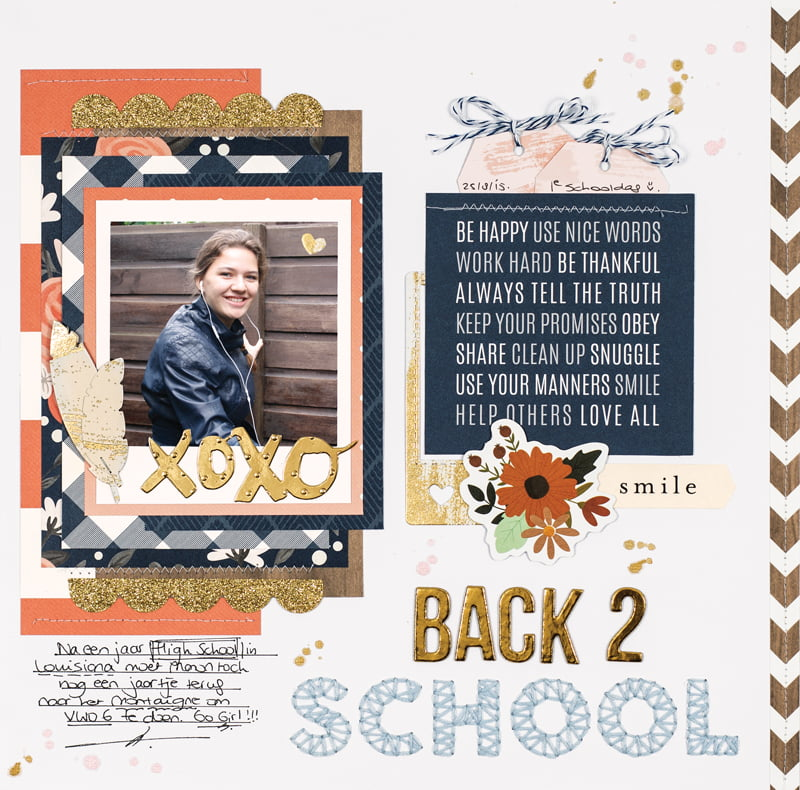 Back 2 School Layout by Monique Liedtke for Scrapbook & Cards Today