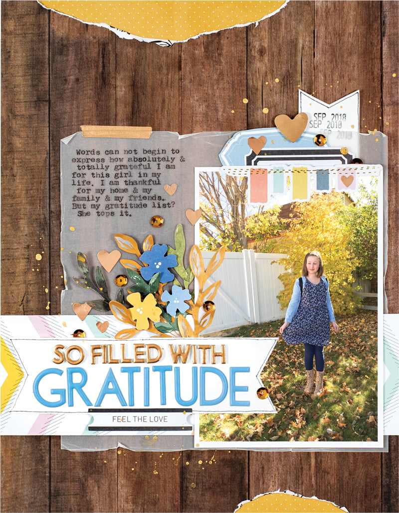 Gratitude Layout by Jen Schow for Scrapbook & Cards Today