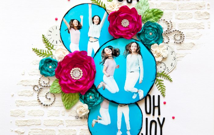 Joy Oh Joy layout by Stacy Cohen for Scrapbook and Cards Today