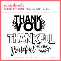 October 2018 free cut file for Scrapbook & Cards Today Magazine