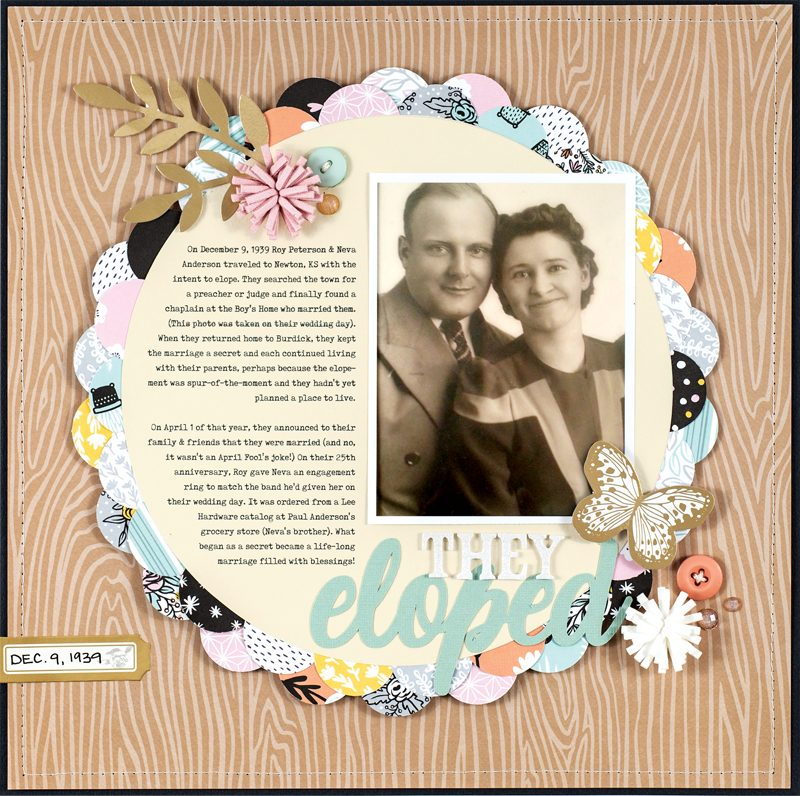 They Eloped Layout by Lisa Dickinson for Scrapbook & Cards Today