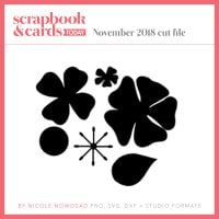 November 2018 free cut file for Scrapbook & Cards Today Magazine