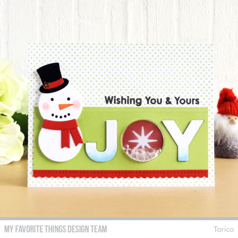 JOY Die Cut Card by Torico for My Favorite Things