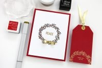 Peace Card & Tag set by Cathy Zielske for Scrapbook & Cards Today magazine