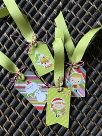 Christmas tags by Susan R Opel for Scrapbook & Cards Today