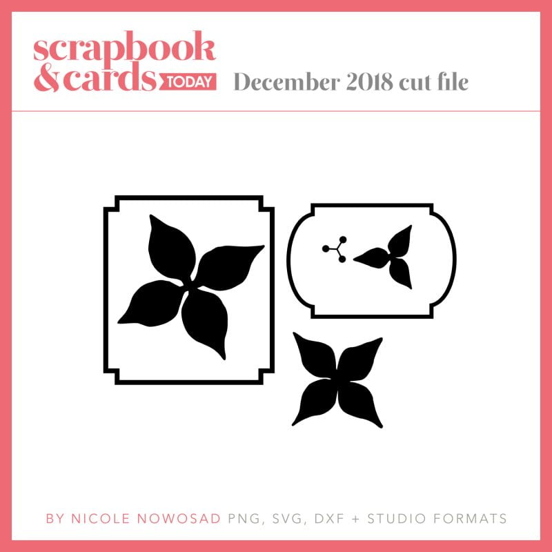 December 2018 Free Cut File for Scrapbook & Cards Today magazine