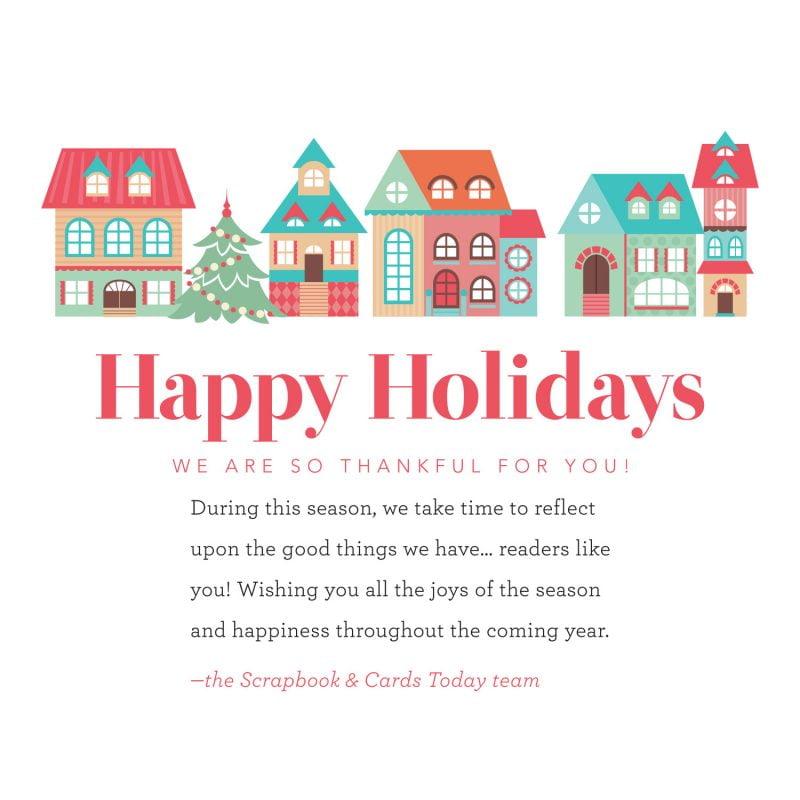 Scrapbook & Cards Today HolidayGreeting2018