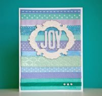 Joy card by Stacy Cohen for Scrapbook and Cards Today