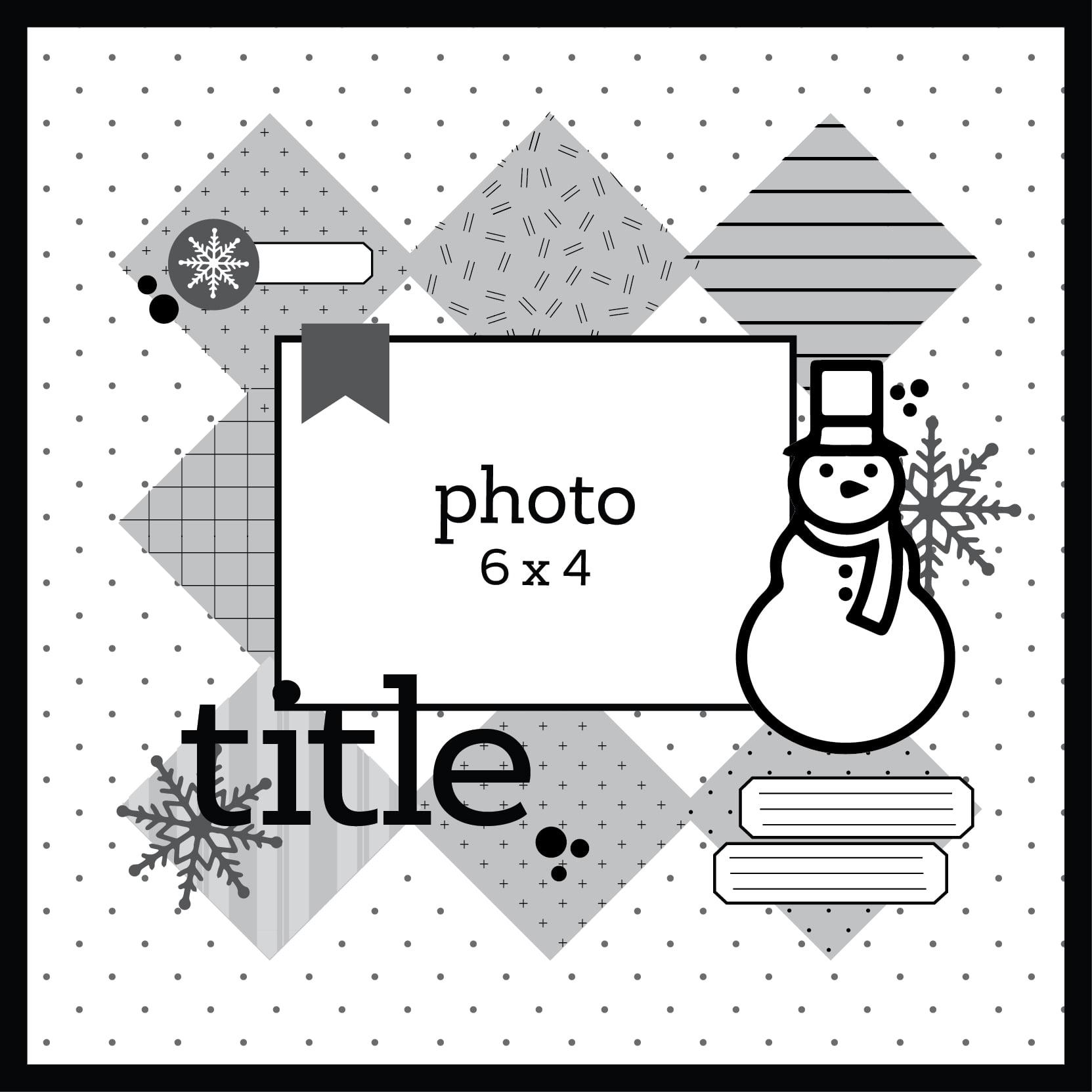 SCT Delivered Kit - Winter 2018 Winter Wonderland - Layout Sketch