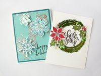 Holiday card set by Nicole Nowosad for Scrapbook & Cards Today
