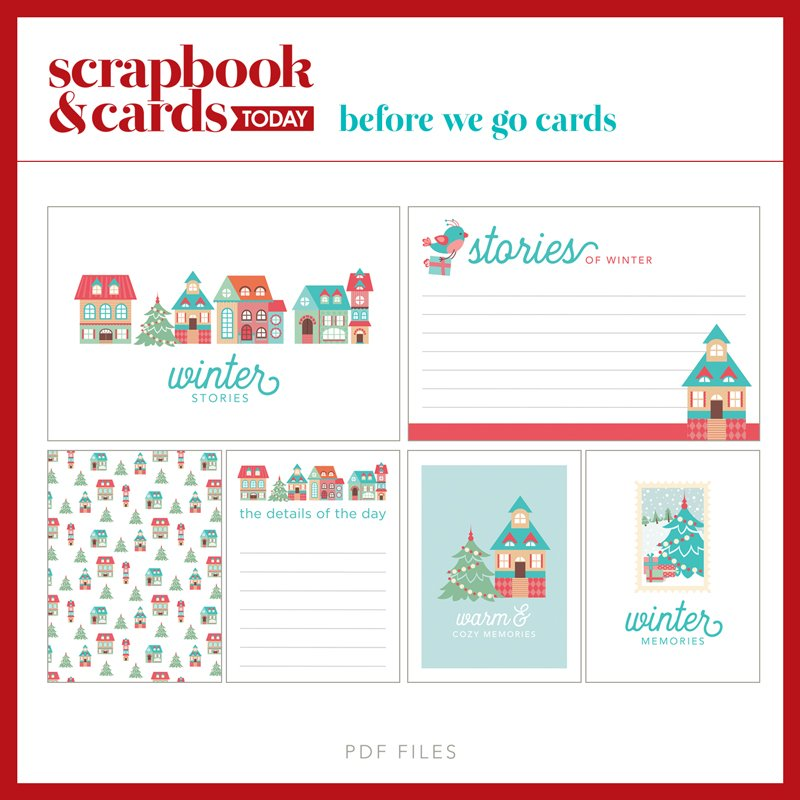 SCT Magazine - Winter Journaling Card Set