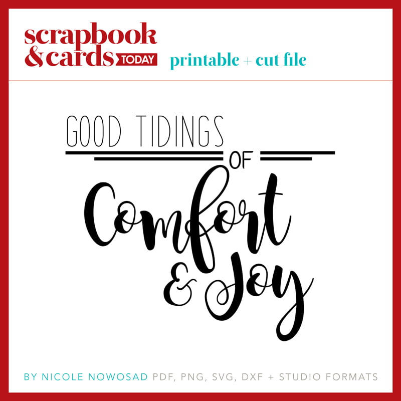 Good Tidings of Comfort & Joy PDF file by Nicole Nowosad