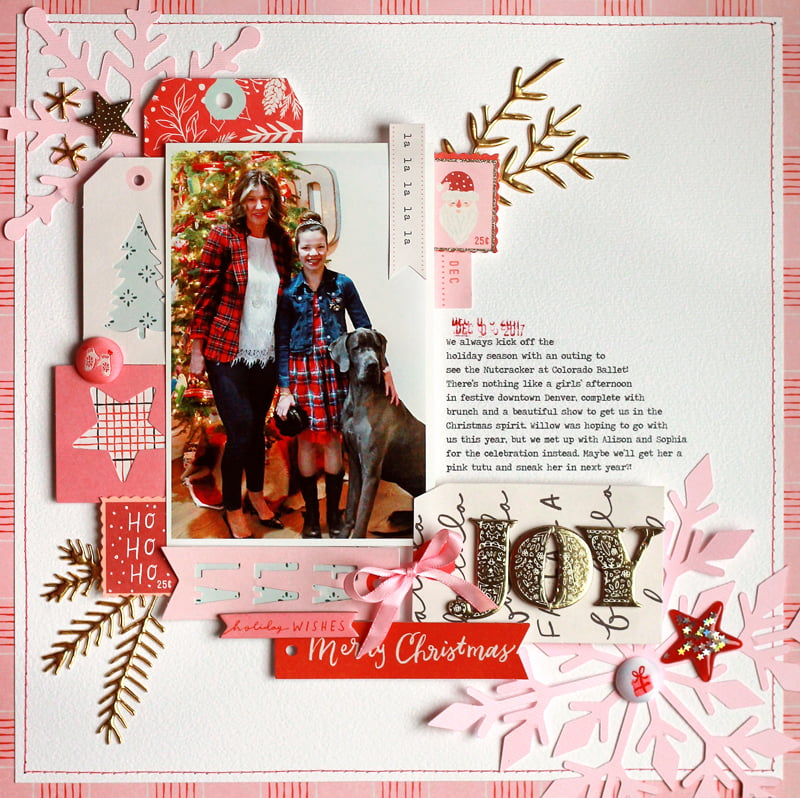 Joy Layout by Lisa Dickinson for Scrapbook & Cards Today magazine