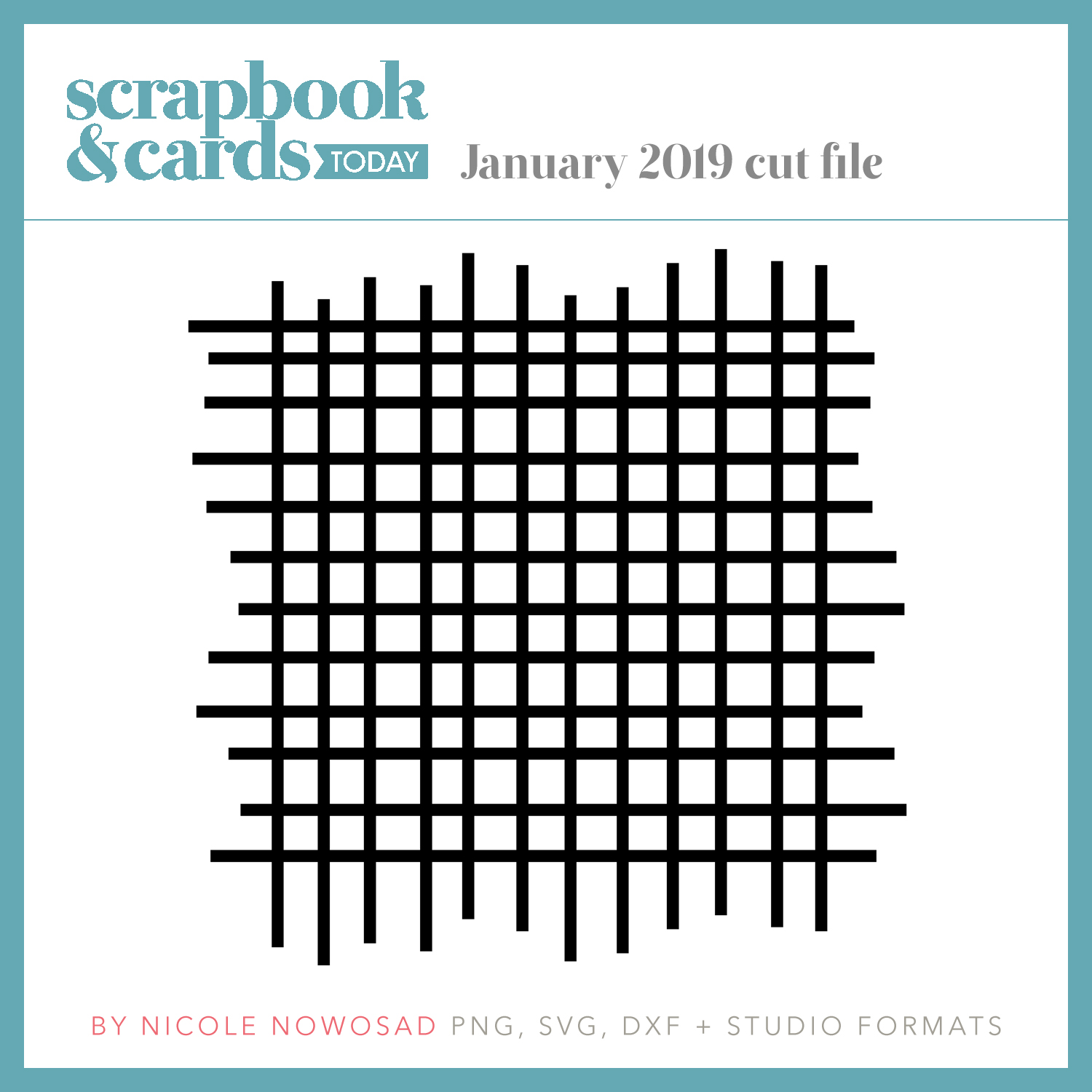 January 2019 free cut file from Scrapbook & Cards Today