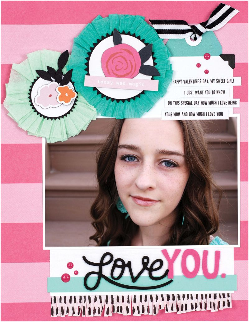 Love You by Jennifer S Gallacher for Scrapbook & Cards Today