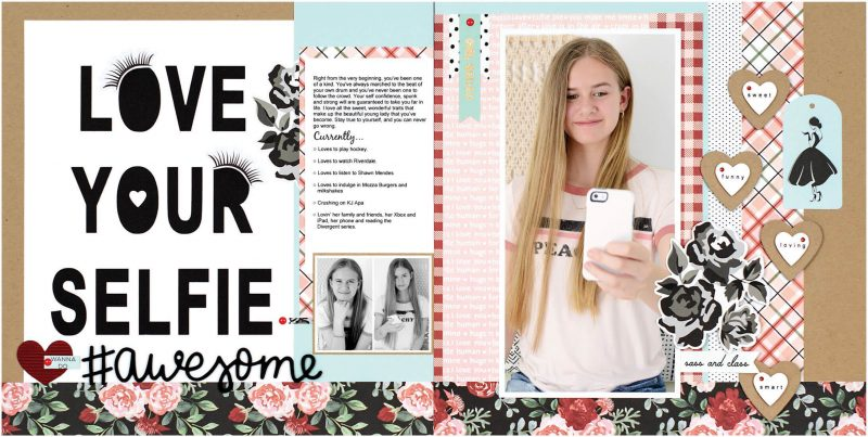 Love Your Selfie by Sheri Reguly for Scrapbook & Cards Today