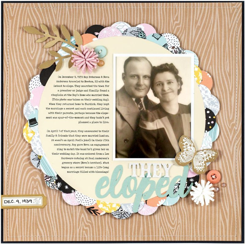 They Eloped by Lisa Dickinson for Scrapbook & Cards Today
