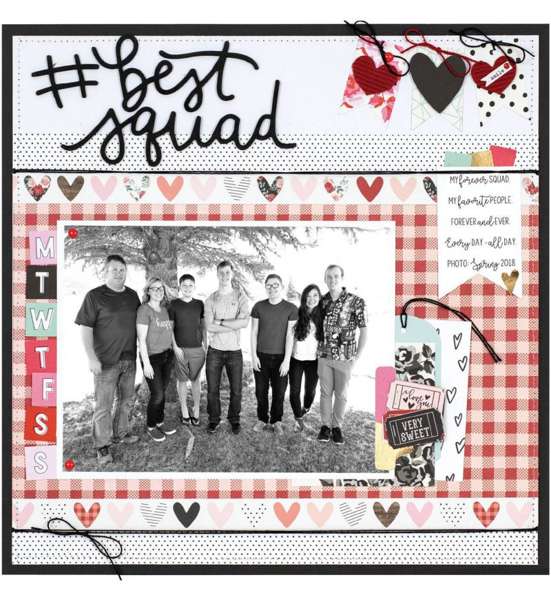 #bestsquad by Wendy Sue Anderson for Scrapbook & Cards Today