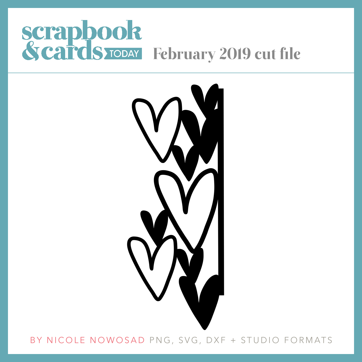 February 2019 free cut file from Scrapbook & Cards Today