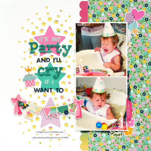 It's My Party Layout by Marcia Dehn-Nix for SCT365 2019 March