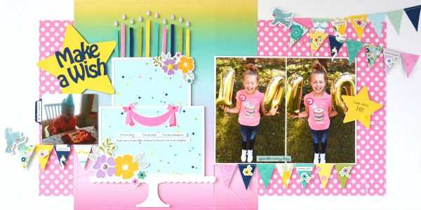 Make A Wish Layout by Marcia Dehn-Nix for SCT365 2019 March