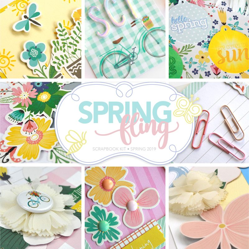 Spring Fling Scrapbook Kit