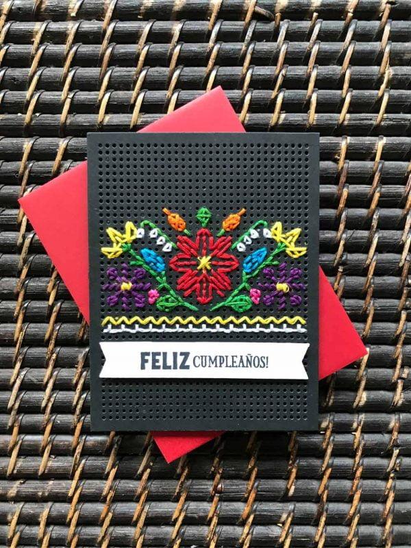 Feliz Cumpleanos card by Susan R. Opel for Scrapbook & Cards Today