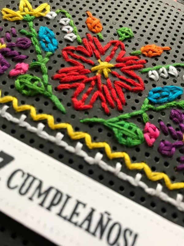 Feliz Cumpleanos card detail by Susan R. Opel for Scrapbook & Cards Today