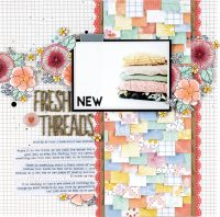 Fresh New Threads layout by Nicole Nowosad for Scrapbook & Cards Today