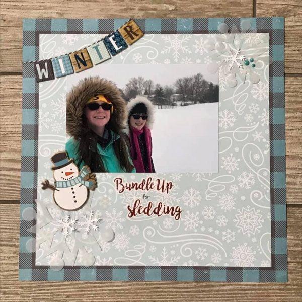 January Layout by Lynne Fogel