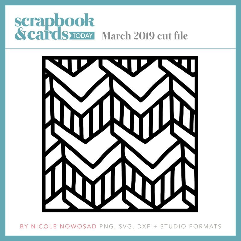 March 2019 cut file freebie from Scrapbook & Cards Today