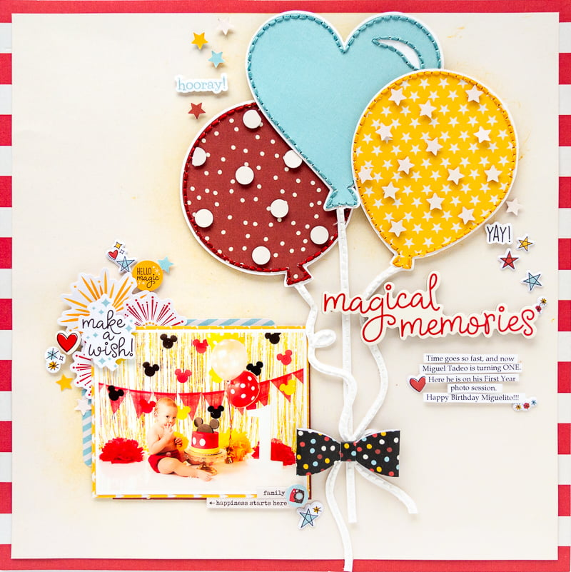 Magical Memories by Nathalie DeSousa for Scrapbook & Cards Today magazine