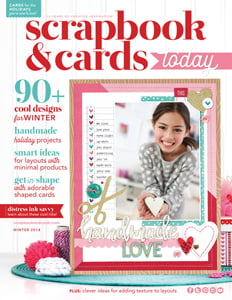 Scrapbook & Cards Today - Winter 2018