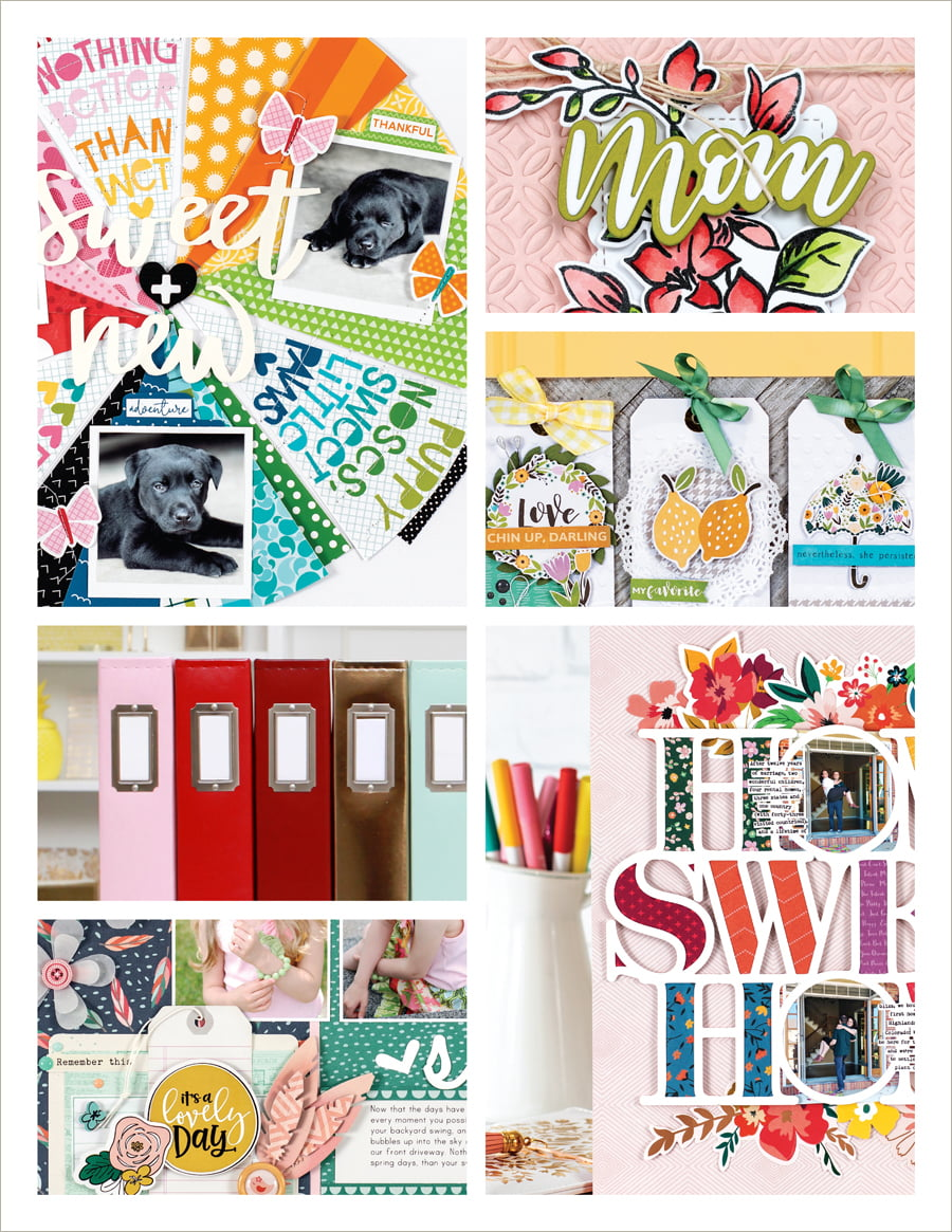 Scrapbook & Cards Today Spring 2019 Issue collage