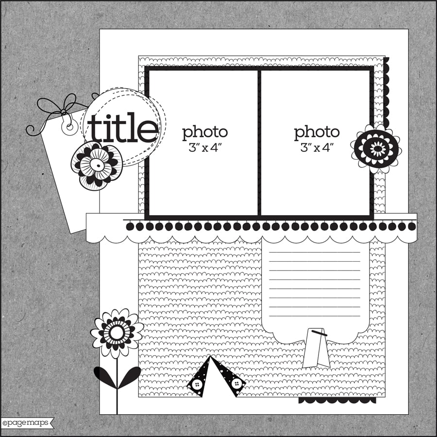 Scrapbook & Cards Today - Spring 2019 - Layout Sketch