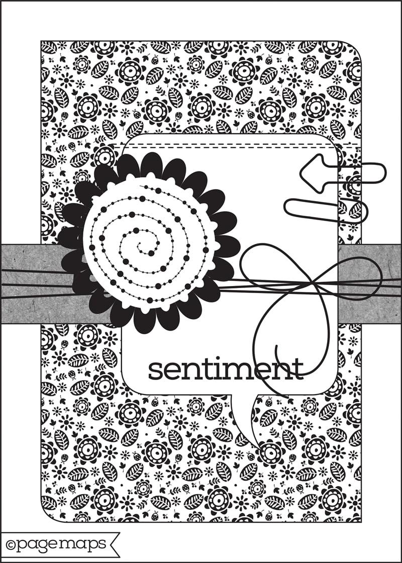 Scrapbook & Cards Today - Spring 2019 - Card Sketch