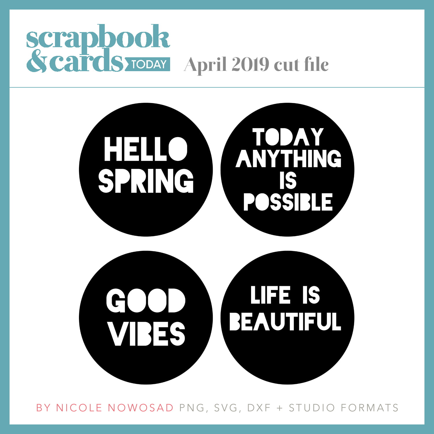 April 2019 Free Cut File from Scrapbook & Cards Today magazine