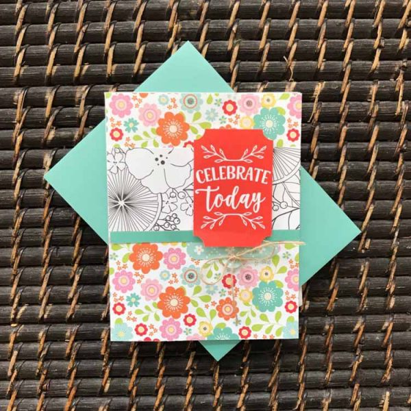 Celebrate Today card by Susan R. Opel for Scrapbook & Cards Today