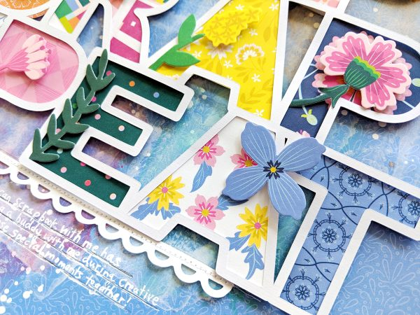 Eat Sleep Scrap Repeat layout by Paige Evans for Scrapbook & Cards Today magazine