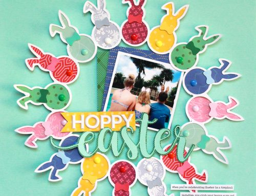 Hoppy Easter layout inspiration with Lisa Dickinson!