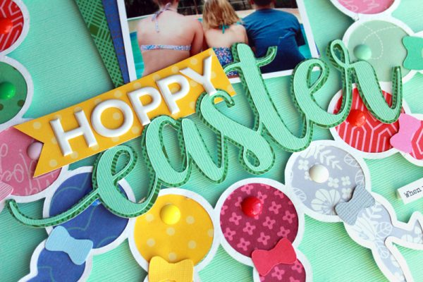 Hoppy Easter layout by Lisa Dickinson for Scrapbook & Cards Today