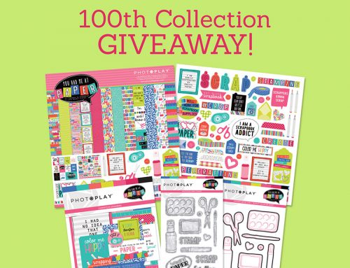 Photoplay Paper celebrates it's 100th collection with a GIVEAWAY!